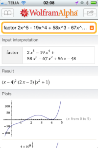 Wolfram Alpha iPhone App